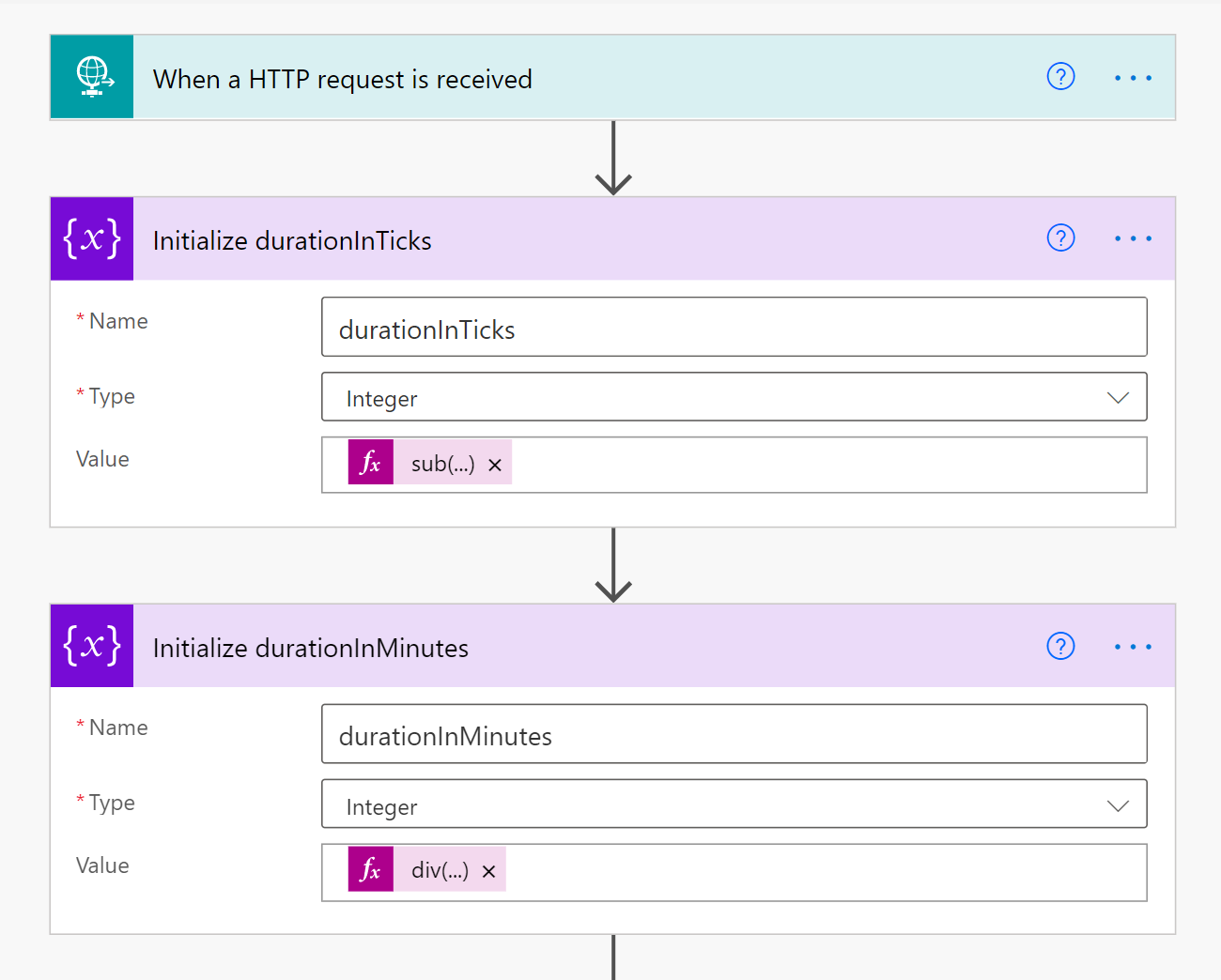 shows durationinminutes and duratiointicks forms in Dataverse.