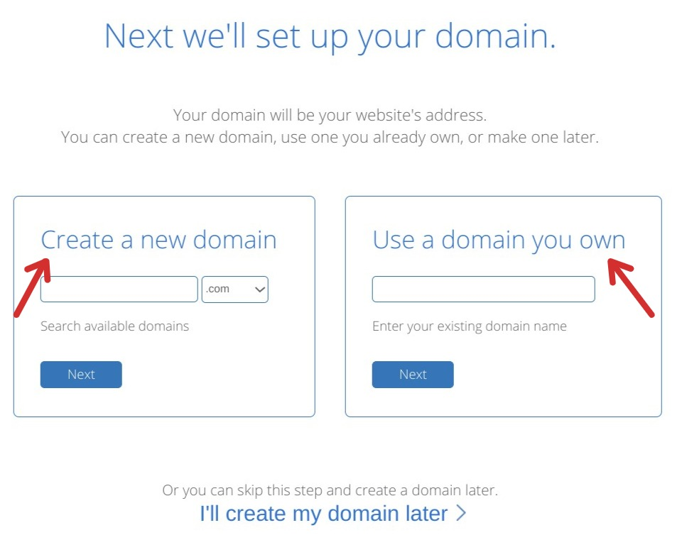 Set up a domain Bluehost