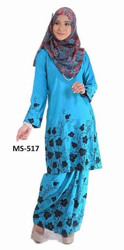 Baju Kurung Pahang Biru