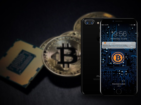 Phone showing crypto wallet app