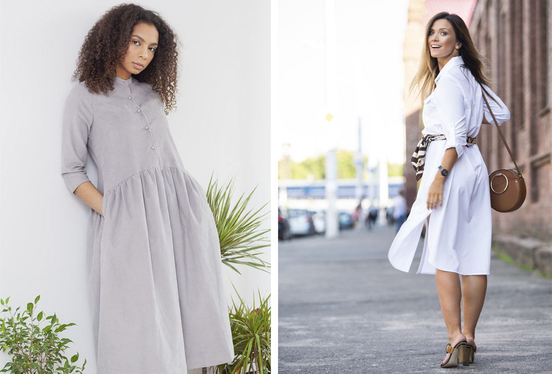 Одним футляр, другим рубашка. Трендовые модели самых популярных фасонов женского платья