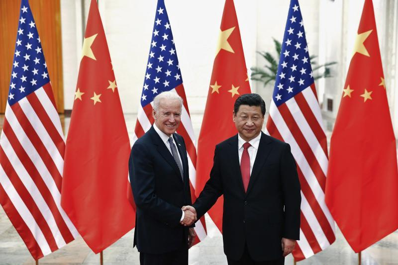 Biden and Chinese President Xi Jinping in Beijing, December 2013