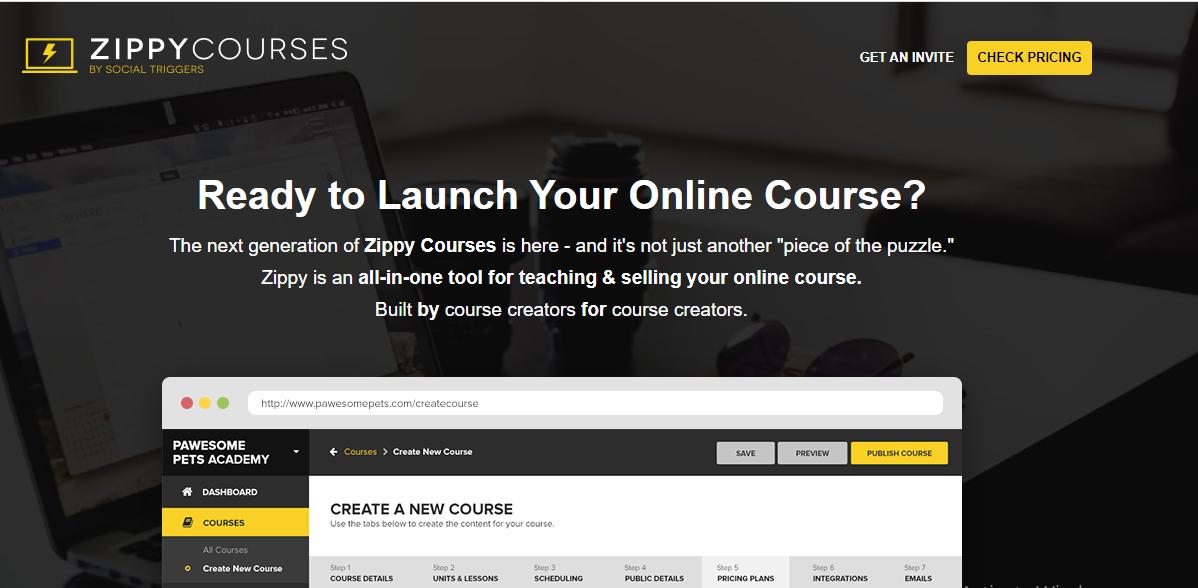 Online Course Platform - Zippy Courses