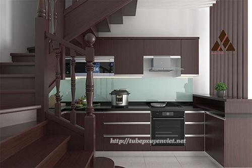 Mẫu tủ bếp đẹp bằng nhựa hình 13