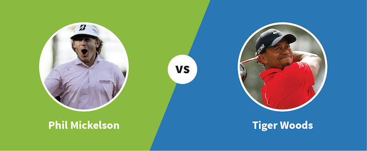 Phil Mickelson vs. Tiger Woods - Paylab blog