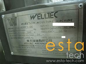 Welltec TTI-450FT-SE (2013) Servo-Driven Multi Material Plastic Injection Moulding Machine