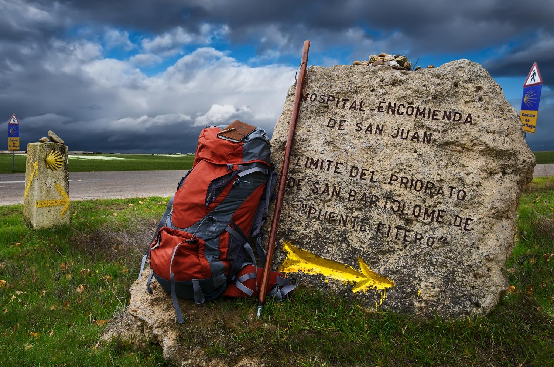 Mochila en Camino de Santiago