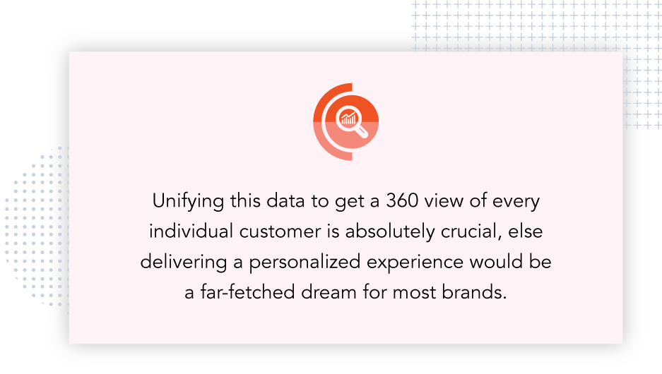 Unifying the data to get a 360 view of every individual customer is crucial for product-led growth