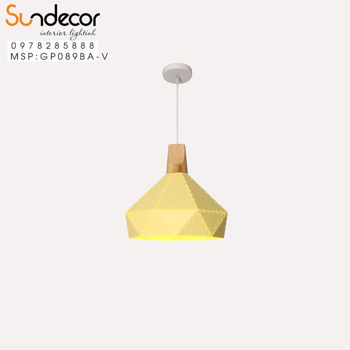 Đèn Thả Kim Cương Đui Gỗ Vàng GP089BA-V