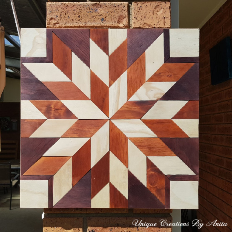 stained barn quilt