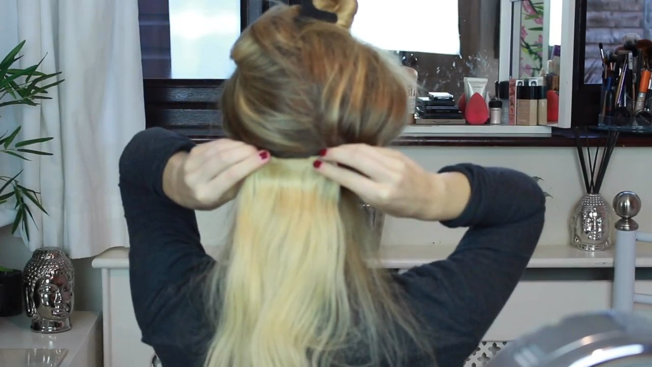 How To Create A Quick Low Bun Using Clip In Hair Extensions