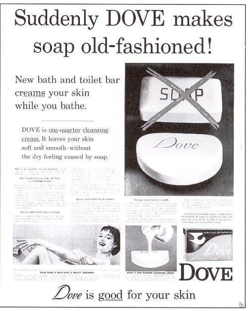 Ogilvy's dove soap bar print ad