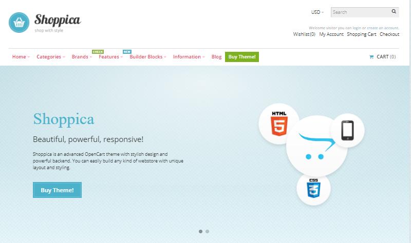 Shoppica - Opencart theme