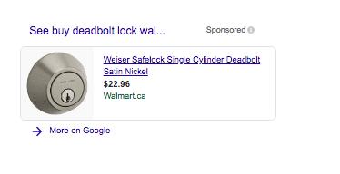Google shopping SERP features