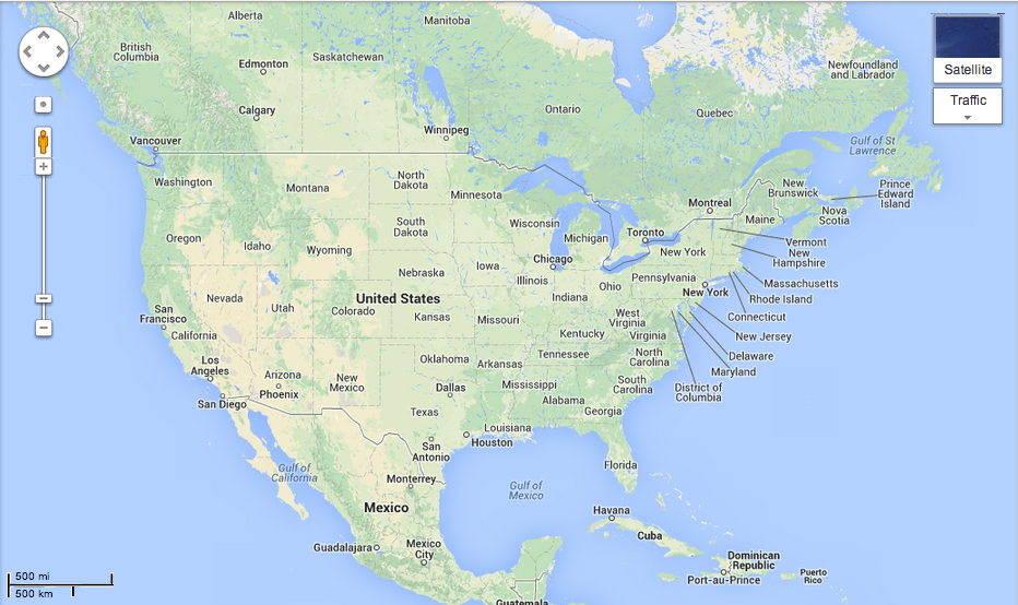 United States Map Google | Danielrossi