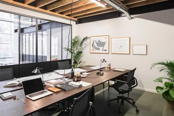 Mẫu thiết kế văn phòng nhỏ với không gian xanh