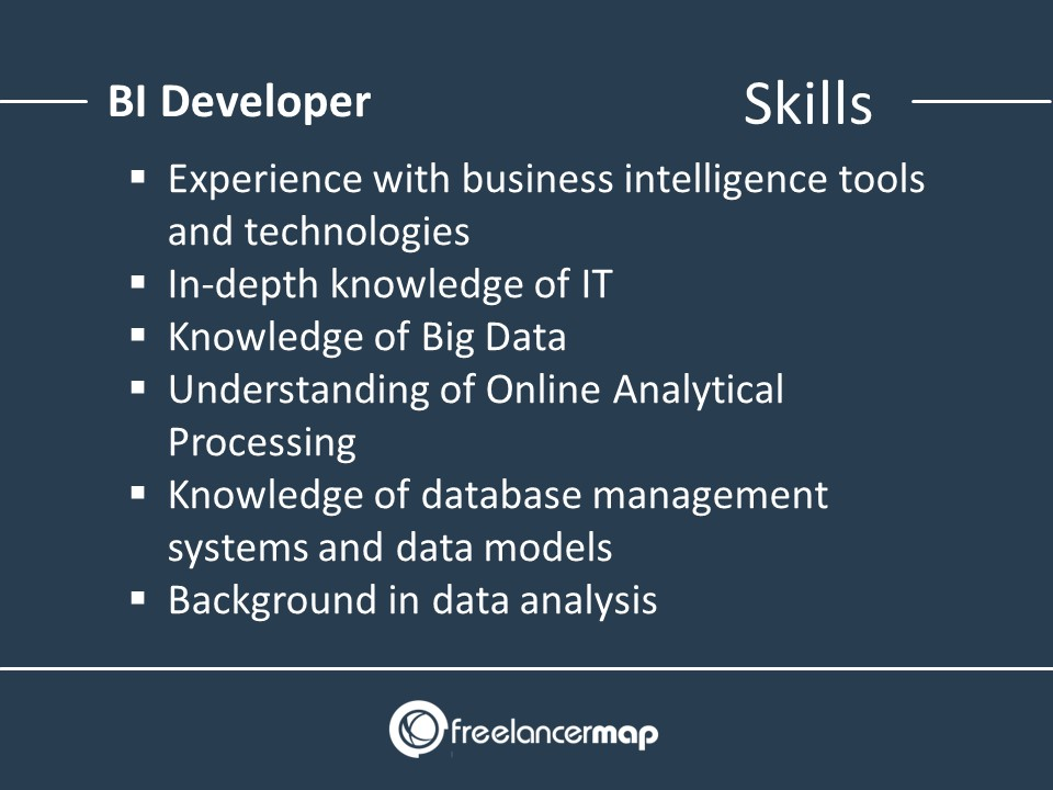 skills of a Business Intelligence Developer