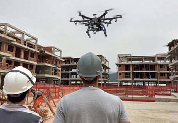 Drones na construção civil aproximam clientes das obras
