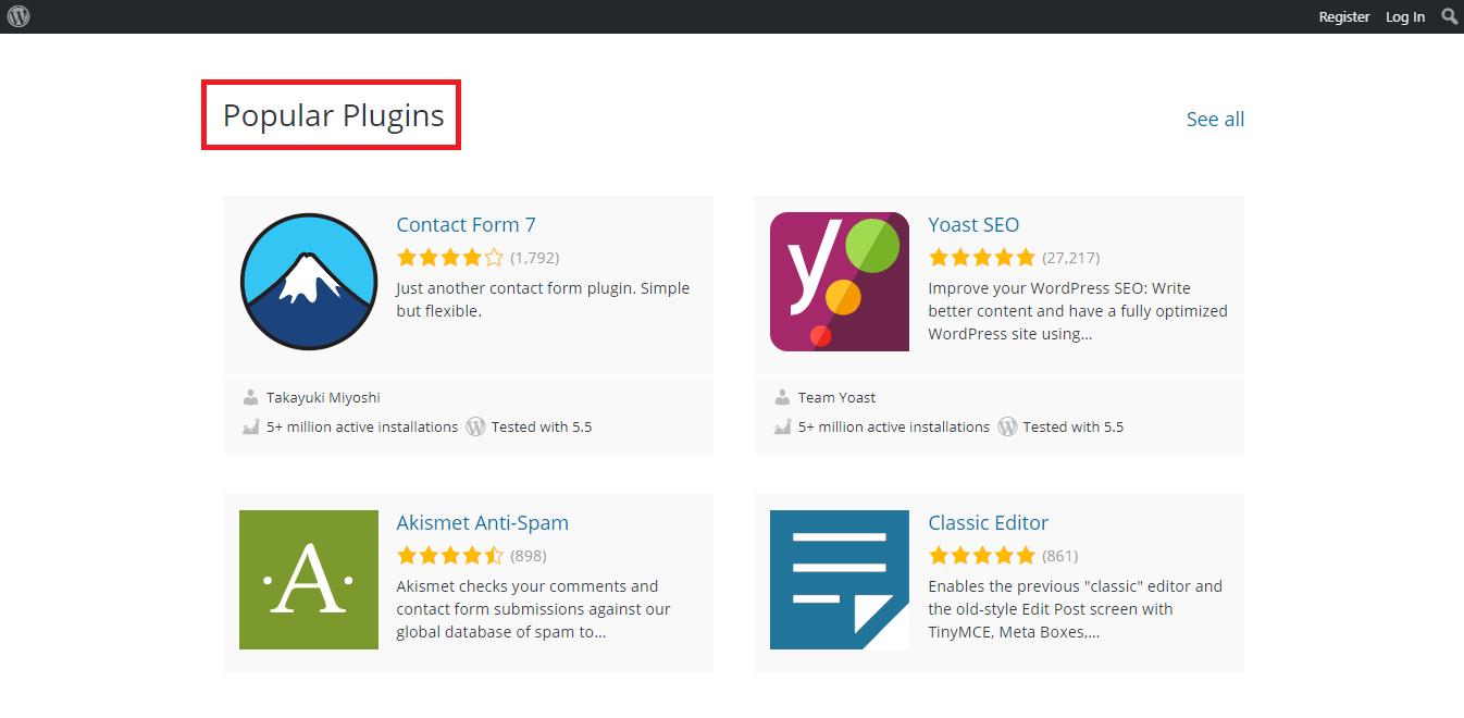 popular plugins