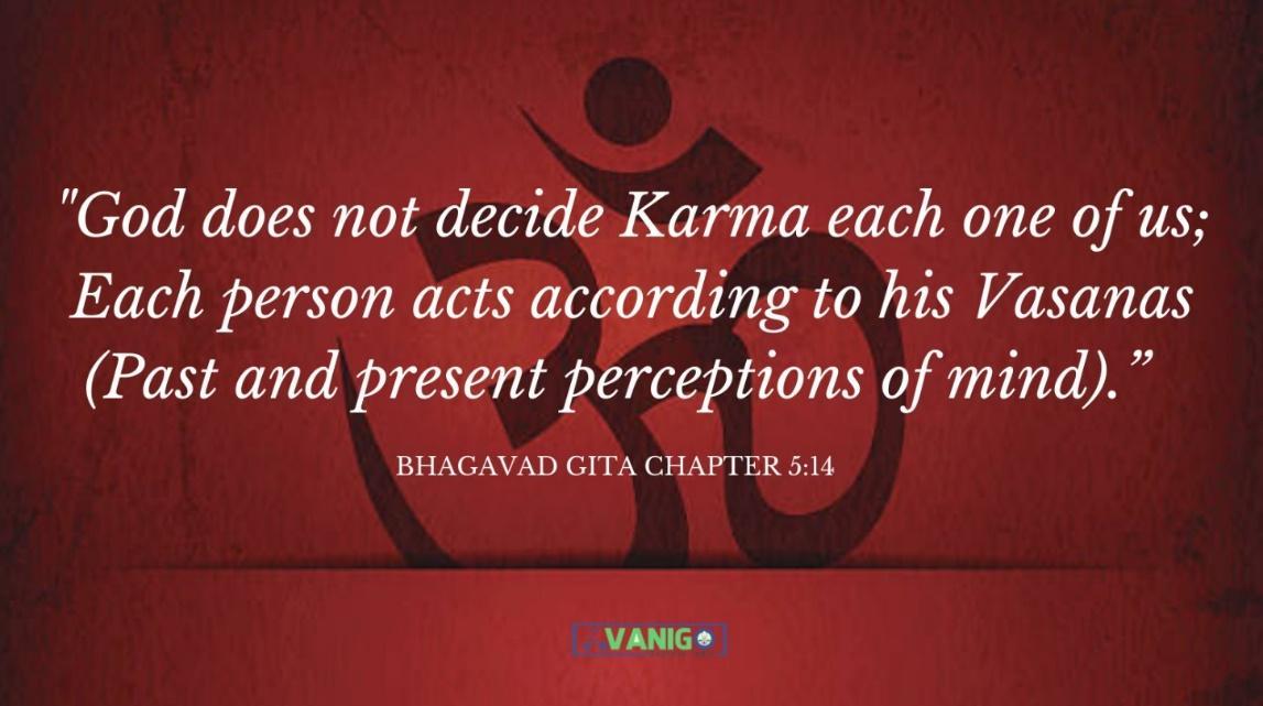 Bhagvad Gita Chapter 5:14
