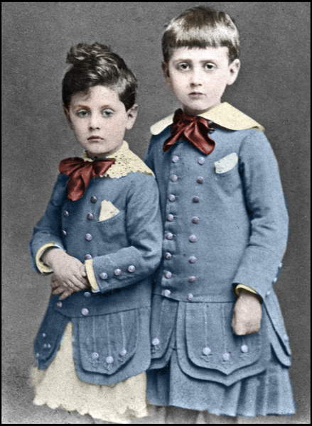 Image of Robert and Marcel Proust children in 1877, Unknown photographer, (19th century), © Stefano Bianchetti / Bridgeman Images