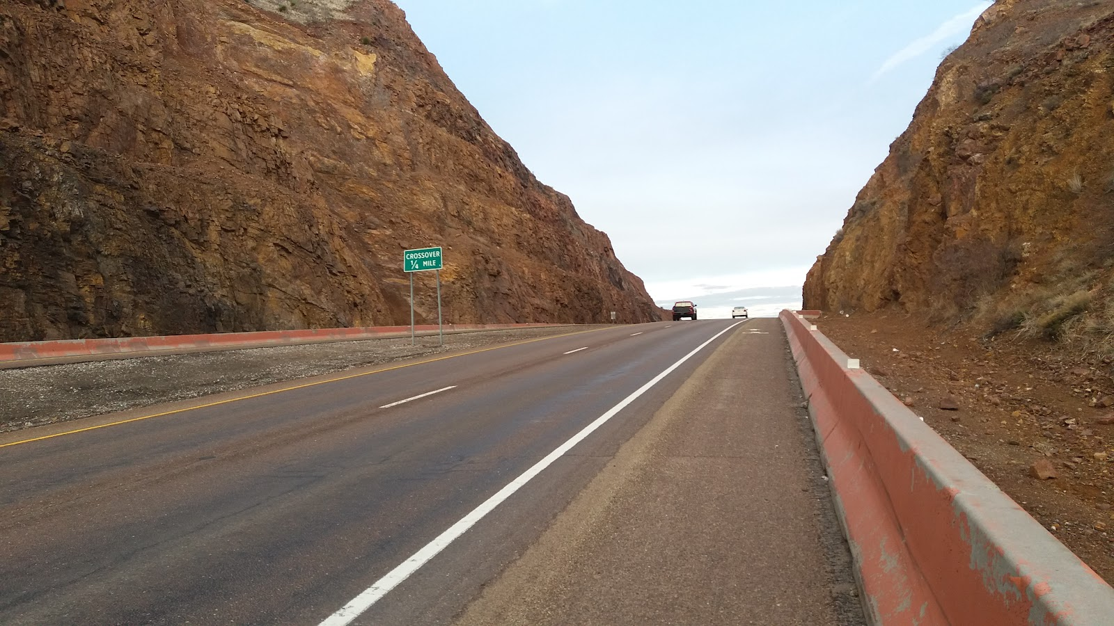 Cycling Smugglers Pass East - Transmountain Drive - the pass and elevation sign