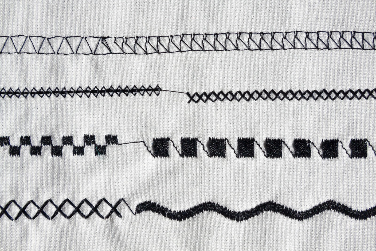 different types of stitches