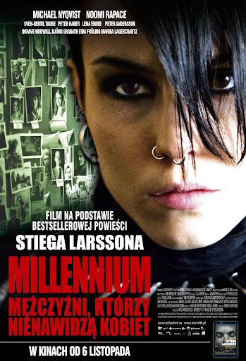 Polski plakat filmu 'Millenium: Mężczyźni, Którzy Nienawidzą Kobiet'