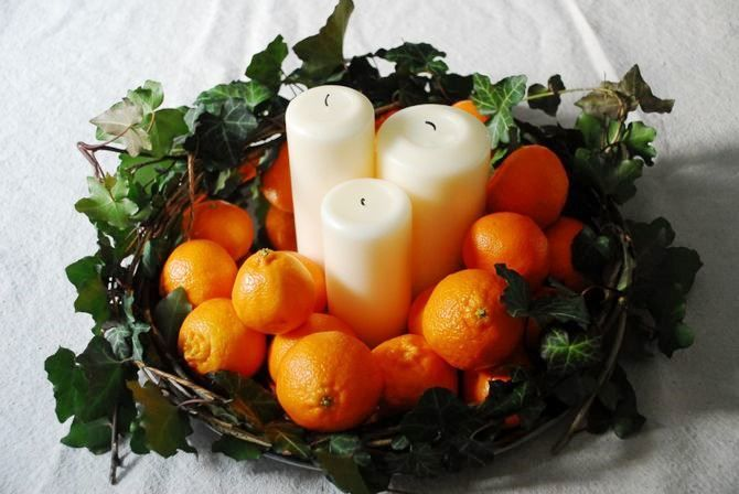 Tangerine decorations for New Year 11