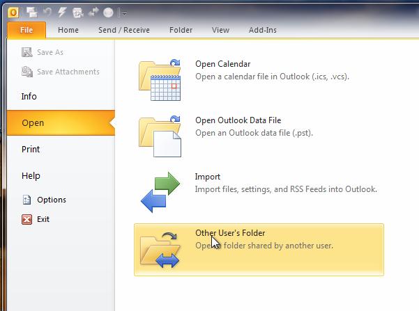 Opening a single Shared Mailbox Folder