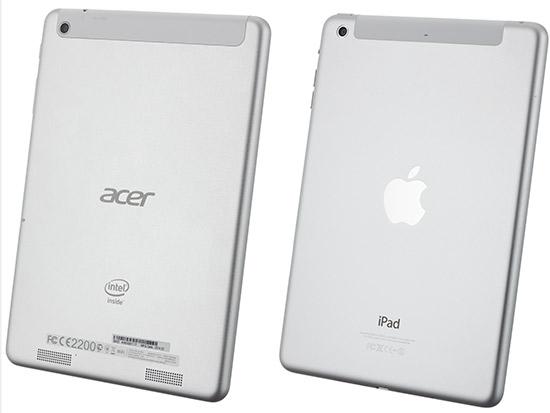 So sánh giữa Acer Icona A1 830 với Ipad mini của Apple