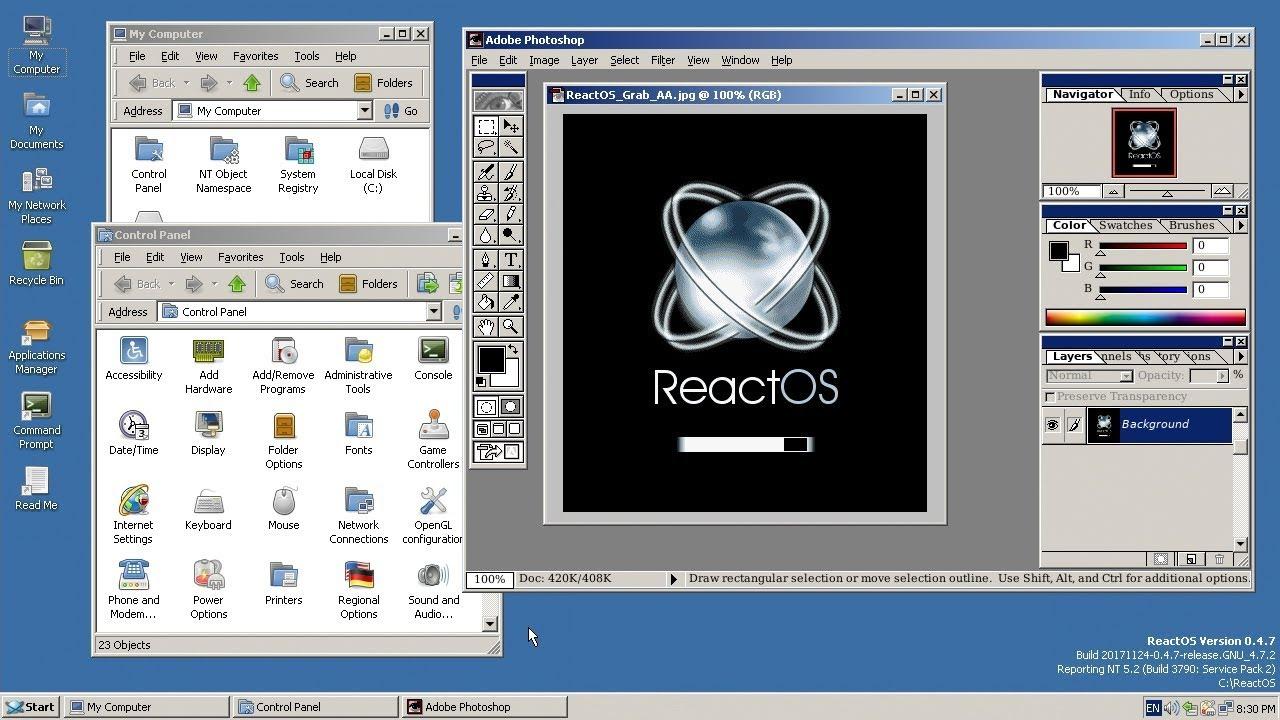 ReactOS: um primo próximo do Windows, de modo aberto.