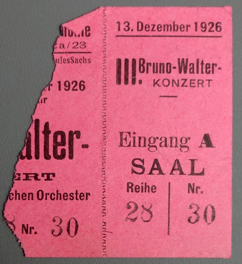 Ticket Stub for a concert