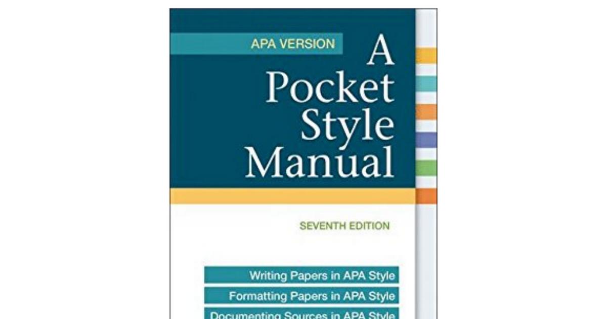 5jnebook Pocket Style Manual Apa Version Free Downloadpdf