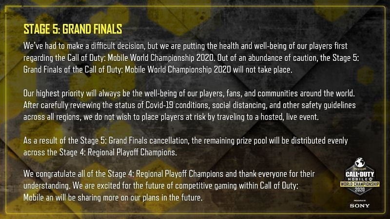 COD Mobile's clarification of Stage 5 in the World Championship this year