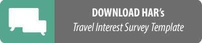 Download button - Travel Interest Survey Form Template