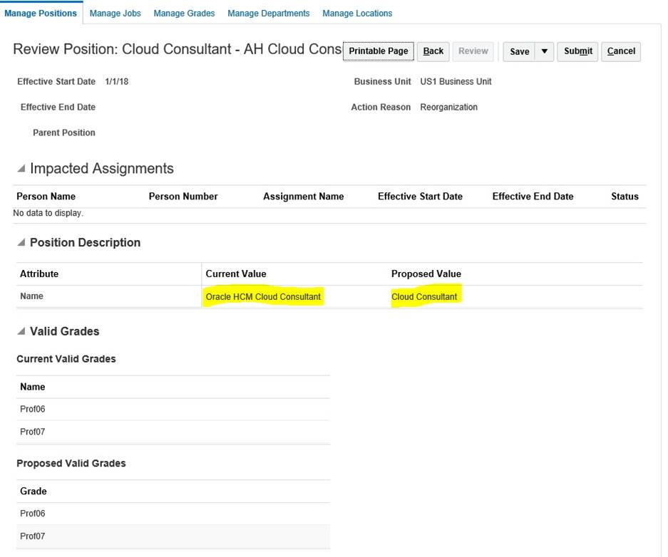 Understanding UPDATE and CORRECTION Actions in Oracle Fusion