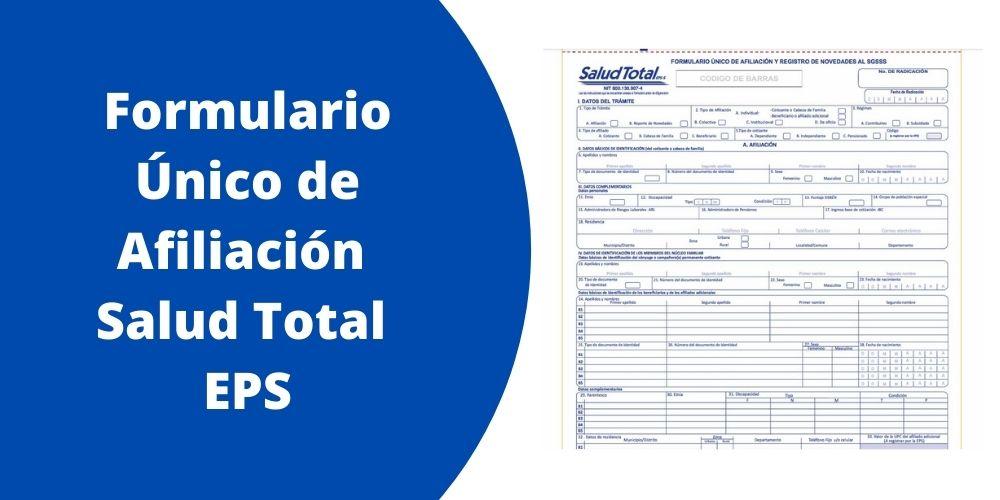 Formulario Único de Afiliación Salud Total EPS
