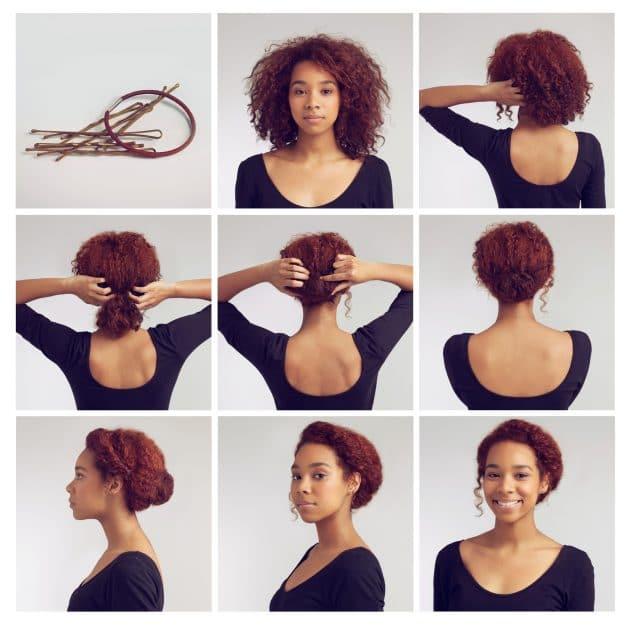 penteados fáceis e rápidos