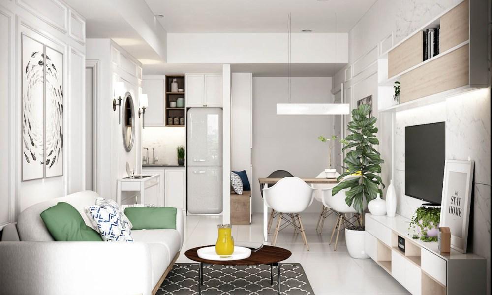 6 thủ thuật thiết kế nội thất nhà nhỏ rất phù hợp với các vợ chồng mới cưới
