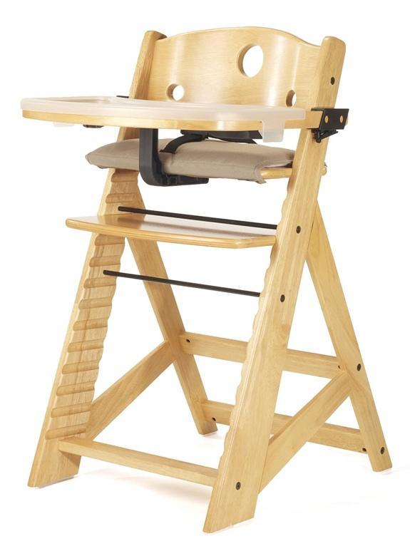 A picture containing seat, chair, furniture, wooden  Keekaroo high chair