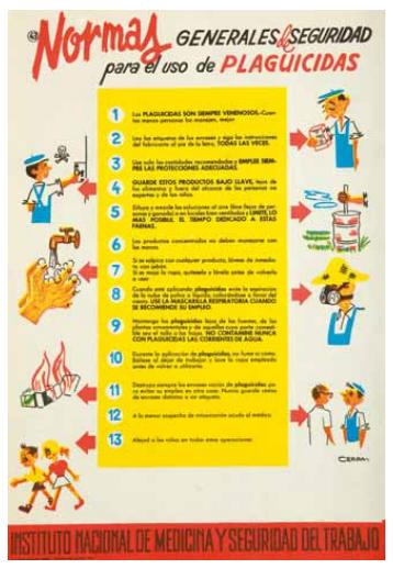 Carteles de prevención de riesgos laborales del INSST