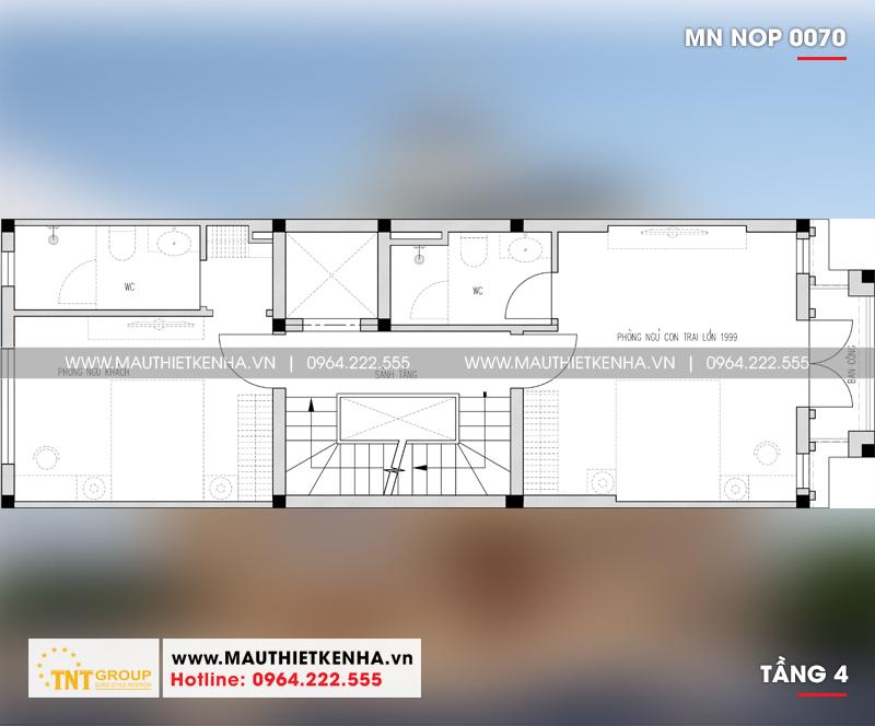 3 mẫu thiết kế nhà 5x15m có thang máy