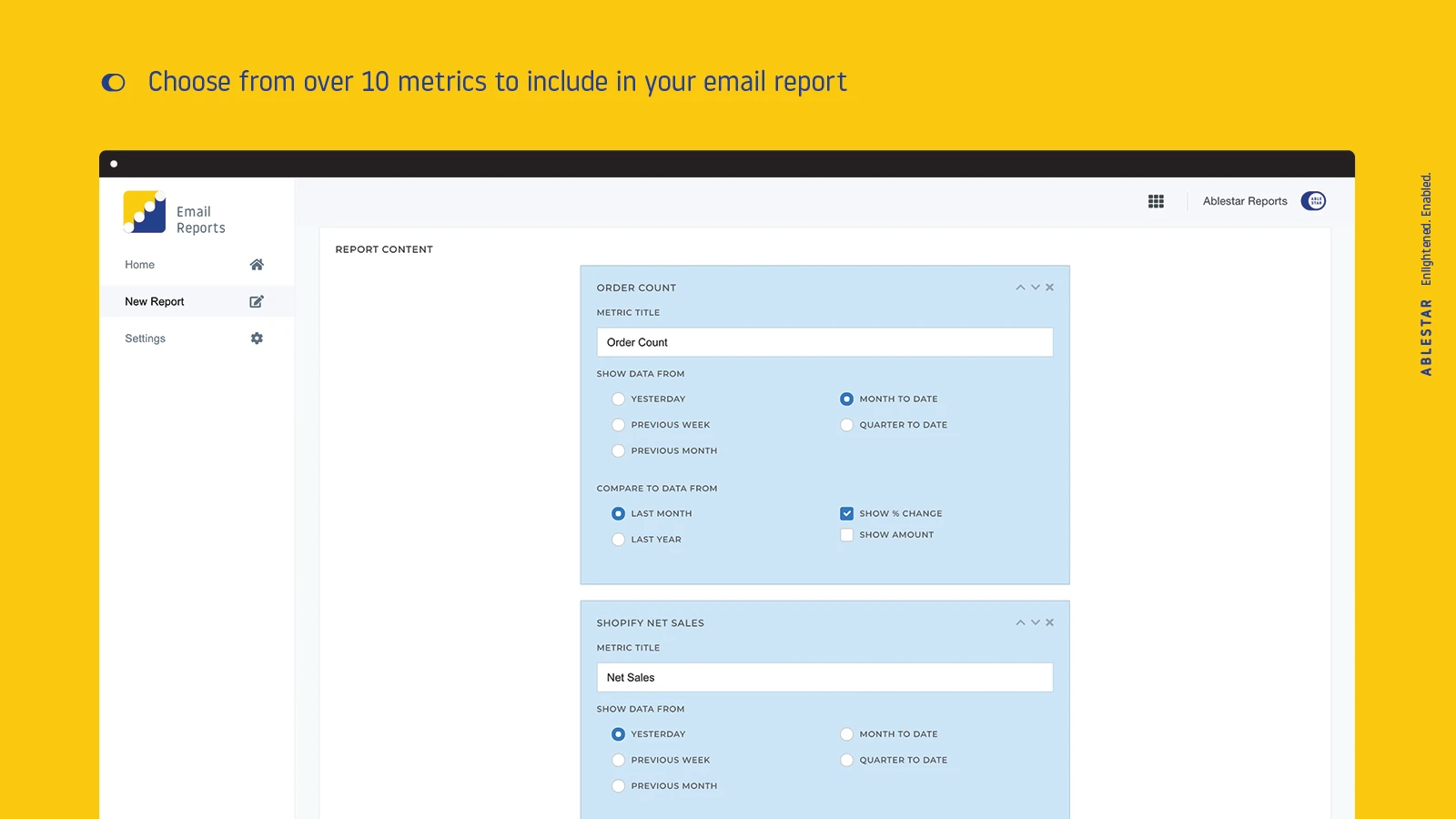 Email report shopify app