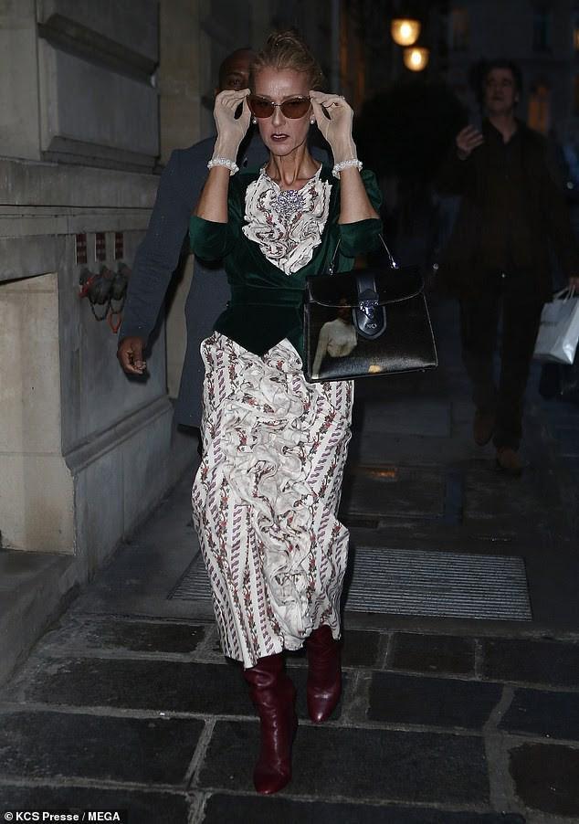 Celine Dion lại gây sốc khi diện váy xẻ sâu khoe ngực với cơ thể nhăn nheo - ảnh 8