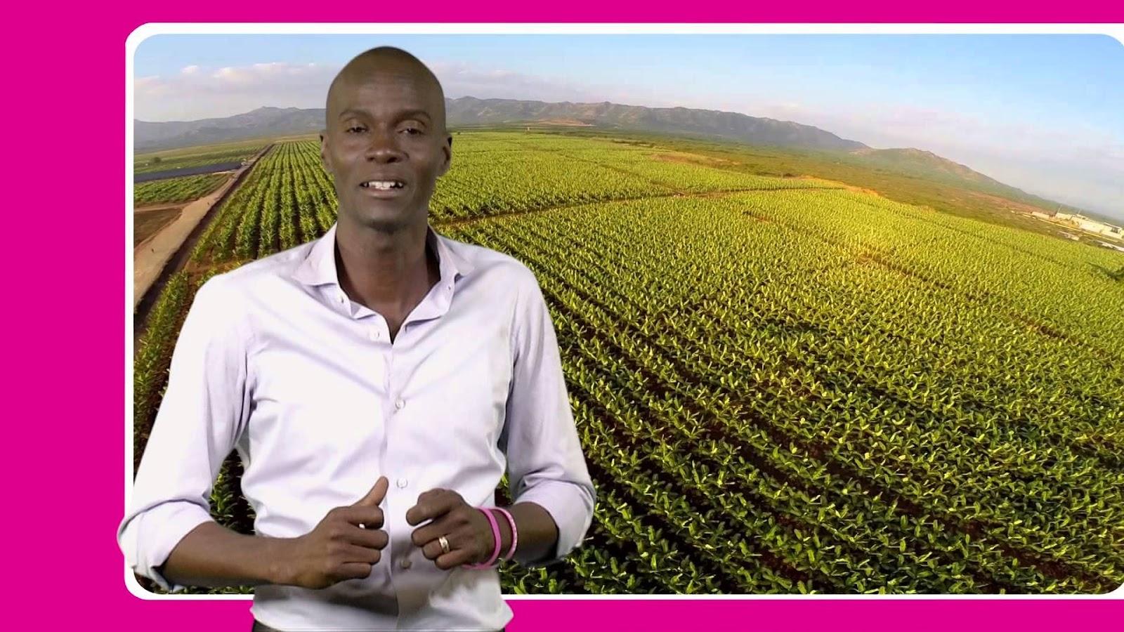 La candidature de Moise Jovenel vise essentiellement à moderniser l'agriculture d'Haïti.-