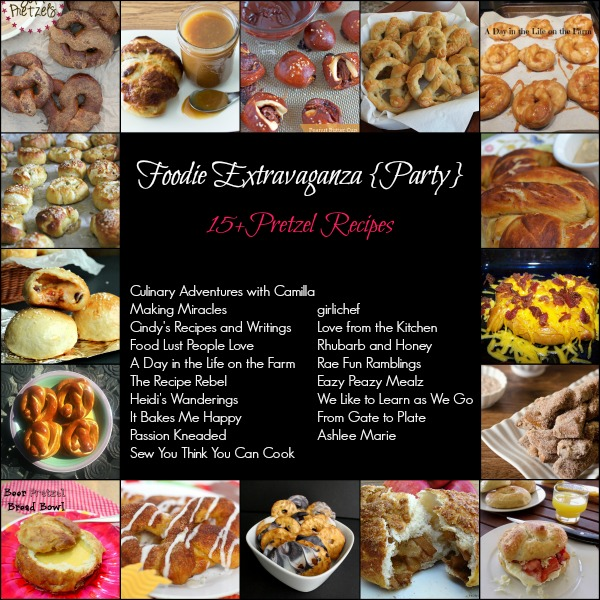 15 Pretzel Recipes via Foodie Extravaganza 600x600.jpg