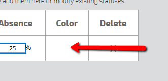 Custom Status Color