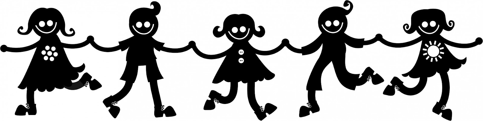 Silhouette Kids Holding Hands Free Stock Photo - Public Domain ...