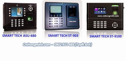 Máy chấm công vân tay và thẻ smart tech, máy chấm công văn phòng giá rẻ